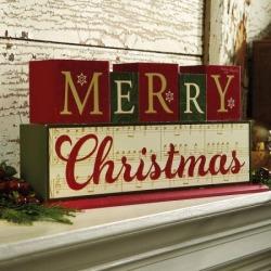 Merry Christmas Wooden Blocks