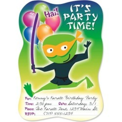 Ninja Die Cut Birthday Fill-in Invitations found on Bargain Bro India from colorfulimages.com for $4.99