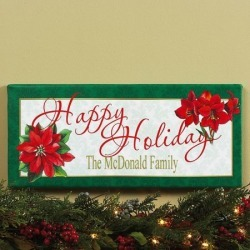 Happy Holidays Personalized Canvas Print