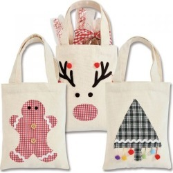 Plaid Canvas Treat Sacks with Appliques found on Bargain Bro from colorfulimages.com for USD $7.59