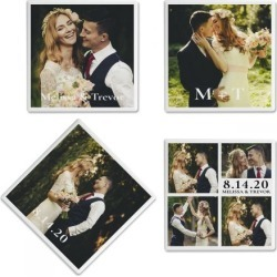 Nuptial Custom Photo Coasters found on Bargain Bro India from colorfulimages.com for $21.99