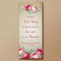 Love Story Personalized Canvas found on Bargain Bro India from colorfulimages.com for $29.99