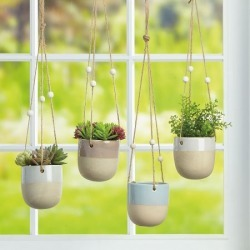 Stoneware Plant Hanger found on Bargain Bro India from colorfulimages.com for $10.99