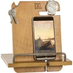 Custom Wooden Docking Station - 3 Initials