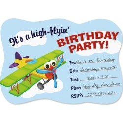 Airplane Birthday Fill-in Invitations found on Bargain Bro India from colorfulimages.com for $4.99