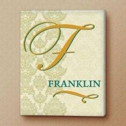 Regency Initial Personalized Canvas Print