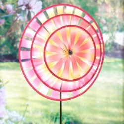 Pink Flower Wind Spinner found on Bargain Bro India from colorfulimages.com for $14.99