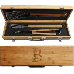 Custom Initial Bamboo BBQ Set - Initial with Name found on Bargain Bro India from colorfulimages.com for $59.99