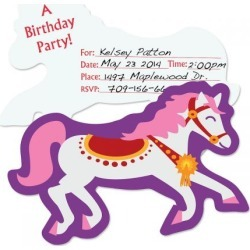 Carousel Horse Birthday Fill-in Invitations found on Bargain Bro India from colorfulimages.com for $4.99
