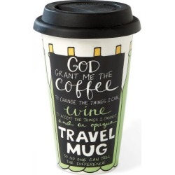 Wine Prayer Travel Mug found on Bargain Bro India from colorfulimages.com for $18.99