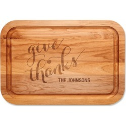 Give Thanks Custom Wood Cutting Board found on Bargain Bro India from colorfulimages.com for $44.99