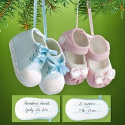 Blue Baby Booties Ornament