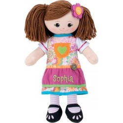 Custom Brunette Rag Doll with Apron Dress found on Bargain Bro from colorfulimages.com for USD $30.39