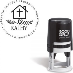 Cross Personalized Round Address Stamp found on Bargain Bro Philippines from colorfulimages.com for $22.99