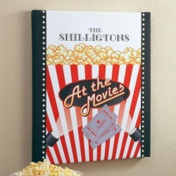At The Movies Personalized Canvas Print