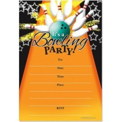 Bowling Party Birthday Fill-in Invitations found on Bargain Bro India from colorfulimages.com for $4.99