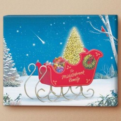 Holiday Sleigh Personalized Canvas Print