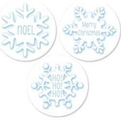 Snowflake Envelope Seals (3 Designs) found on Bargain Bro India from colorfulimages.com for $8.99