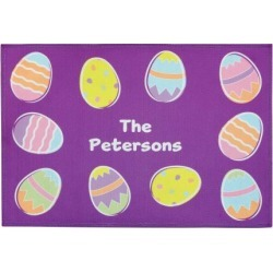 Easter Egg Personalized Doormat