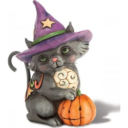 Mini Black Cat Witch Figurine by Jim Shore found on Bargain Bro India from colorfulimages.com for $14.99