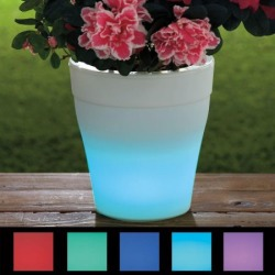 LED Color Changing Plant Pot