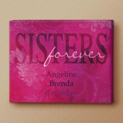 Sisters Forever Personalized Canvas Print