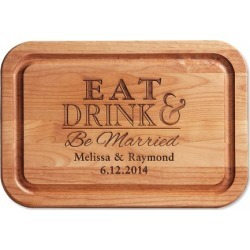 Eat, Drink, Be Married Custom Wood Cutting Board found on Bargain Bro India from colorfulimages.com for $49.99