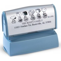 PEANUTS® Our Family Address Stamp found on Bargain Bro Philippines from colorfulimages.com for $18.99