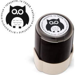 Owl Round Address Stamp found on Bargain Bro India from colorfulimages.com for $22.99