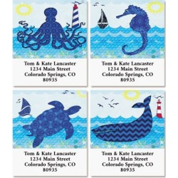 Catch a Wave Select Return Address Labels (4 Designs) found on Bargain Bro Philippines from colorfulimages.com for $8.99