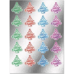 Foil Christmas Tree Seals found on Bargain Bro India from colorfulimages.com for $3.99