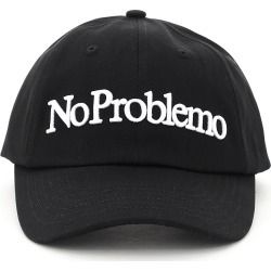 ARIES BASEBALL CAP NO PROBLEMO EMBROIDERY OS Black Cotton found on Bargain Bro India from Coltorti Boutique US for $76.00