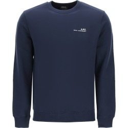 A.P.C. ITEM 001 SWEATSHIRT WITH LOGO PRINT XL Blue Cotton found on Bargain Bro UK from Coltorti Boutique EU