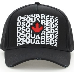 DSQUARED2 DSQUARED2 SWAY BASEBALL CAP OS Black, White, Red Cotton found on Bargain Bro India from Coltorti Boutique US for $146.00