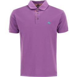 ETRO POLO SHIRT WITH PEGASO EMBROIDERY XL Purple, Green Cotton found on Bargain Bro UK from Coltorti Boutique EU