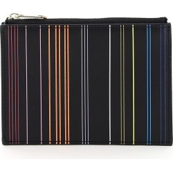 PAUL SMITH STRIPE CARD HOLDER POUCH OS Black, Orange, Yellow Leather found on Bargain Bro UK from Coltorti Boutique EU