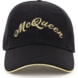 ALEXANDER MCQUEEN BASEBALL CAP GOLDEN LOGO S Black, Gold Cotton found on Bargain Bro India from Coltorti Boutique US for $291.00