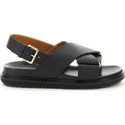 MARNI FUSSBETT LEATHER SANDALS 36 Black Leather found on MODAPINS from Coltorti Boutique US for USD $563.00