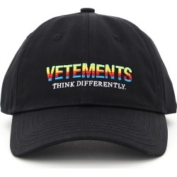 VETEMENTS BASEBALL CAP THINK DIFFERENTLY LOGO OS Black Cotton found on Bargain Bro India from Coltorti Boutique US for $291.00