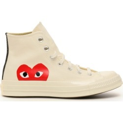 COMME DES GARCONS PLAY COMME DES GARCONS PLAY CHUCK 70 HI-TOP SNEAKERS 11 White Cotton found on MODAPINS from Coltorti Boutique US for USD $146.00