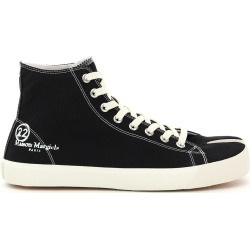 MAISON MARGIELA TABI HI-TOP SNEAKERS 41 Black, White Cotton found on MODAPINS from Coltorti Boutique US for USD $450.00