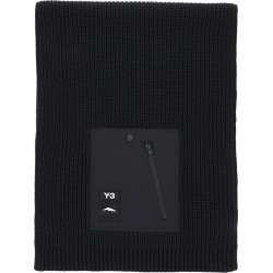 Y-3 CH3 POCKET KNIT SCARF OS Black Wool found on Bargain Bro UK from Coltorti Boutique EU