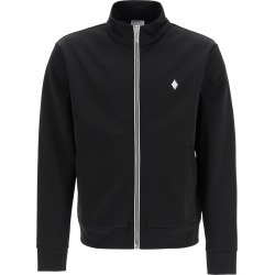 MARCELO BURLON SPORTY SWEATSHIRT WITH ZIP AND FIRE CROSS EMBROIDERY L Black Cotton found on Bargain Bro UK from Coltorti Boutique EU