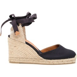CASTAÑER CARINA WEDGE ESPADRILLES 36 Blue, Beige, White Cotton found on MODAPINS from Coltorti Boutique US for USD $97.00