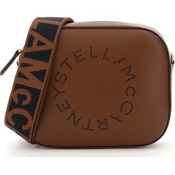 STELLA McCARTNEY CAMERA BAG WITH PERFORATED STELLA LOGO OS Brown, Black Faux leather