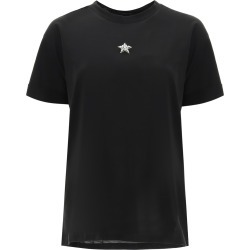 STELLA McCARTNEY T-SHIRT MINISTAR EMBROIDERY WITH CRYSTALS 40 Cotton