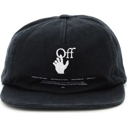 OFF-WHITE HAND OFF LOGO BASEBALL CAP OS Black Cotton found on Bargain Bro UK from Coltorti Boutique EU