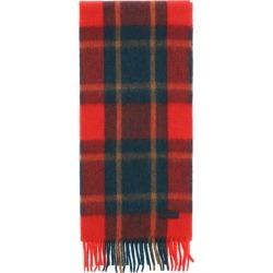 SAINT LAURENT CARREAUX SHETLAND WOOL SCARF OS Red, Green, Brown Wool found on Bargain Bro UK from Coltorti Boutique EU