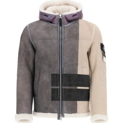 STONE ISLAND SHEARLING BOMBER JACKET L Grey, Beige Fur, Leather found on Bargain Bro from Coltorti Boutique AU for USD $3,011.88