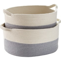 Cotton Rope Oval Bins found on Bargain Bro India from The Container Store for $24.99